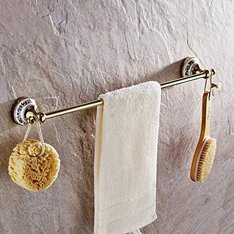 Europea Antiguo Azul Y Blanco Porcelana Toalla Barra / Toalla Colgante De Oro De Cobre Sola Toalla Colgante Racks ( Color : C