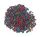 Rudolf Vater e.K. 1000 Glaswachsperlen Mix Rot-Blau-Grün Metallic Vakuum verdampft 3-6mm