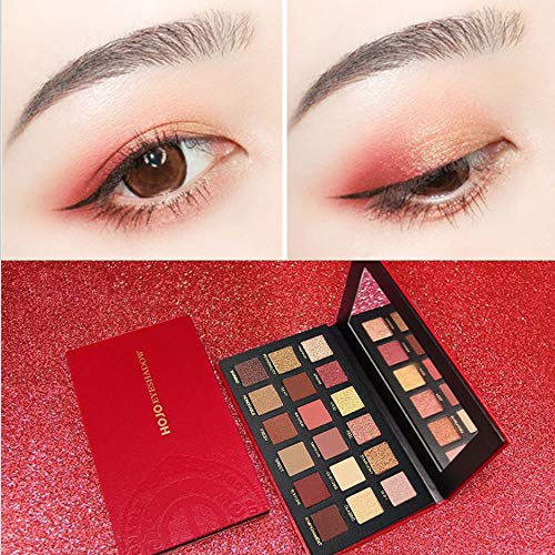 18 Colors Starry Sky Shimmer Glitter Eye Shadow Plate Powder Matt Eyeshadow