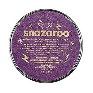 Snazaroo - Pintura facial y corporal, 18 ml, color púrpura metálico
