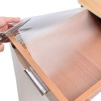 Tapis de tiroir, tapis de tiroir polyvalent tapis antidérapant, découpable, imperméable à l'eau, pour tiroirs et cuisine…