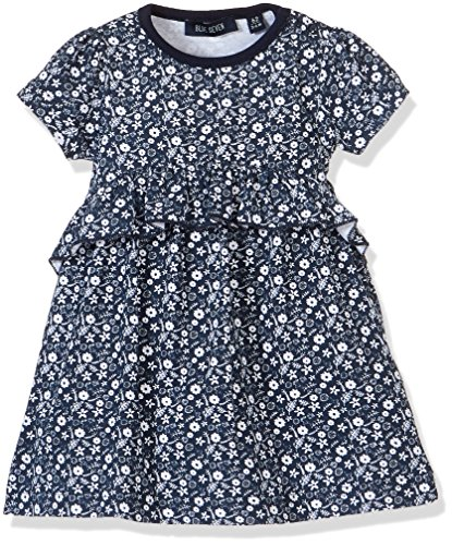 chen Kleid Wirkkleid RH, Blau (Dk Blau 574), 62 (Fee Kleid Baby)