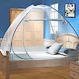 Moustiquaire de Lit Pliable, Digead Portable de voyage Moustiquaire, Porte simple Camping Mosquito Rideau, 100 * 200cm Mousti