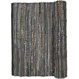 glitzer leder teppich huge 60x90cm baumwolle. Black Bedroom Furniture Sets. Home Design Ideas