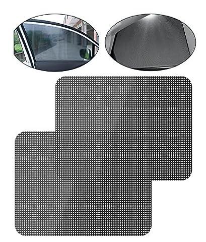 iZoeL Auto Sonnenschutzfolie Statisch Fensterfolie Mesh Seitenscheibe Universal Sichtschutzfolie UV Schutz 99% Reduziert Wärmeschutz Selbstklebend