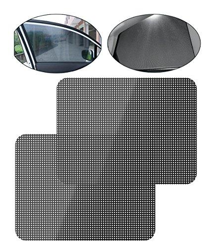 iZoeL Sonnenschutzfolie Auto Sichtschutzfolie Sonnenschutz Folien Sonnenblende 2er UV Schutz Selbsthaftend für Kinder, Baby, Hund 42x38cm (42cm*38cm)