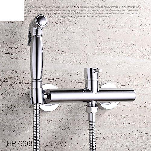 HCP Tout robinet cuivre lavage à chaud et à froid bidet bidet/buse Bidet/Toilettes Kit de pistolet pulvérisateur-A