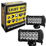 #8: 2pc. LightMod 36 Watt Bike Auxillary Fog Lamp Bar Light Spot Light Bulb Offroad Motorcycle LED