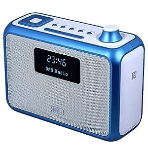 august mb400 dab radio und bluetooth nfc lautsprecher. Black Bedroom Furniture Sets. Home Design Ideas