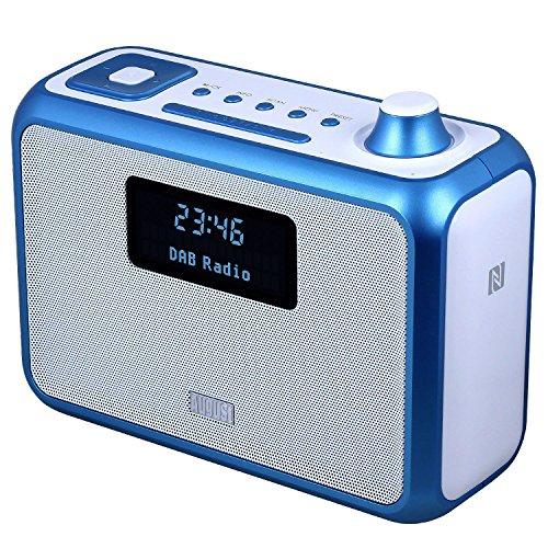 August MB400 – Radio FM DAB/DAB+ y Altavoz Bluetooth Portátil – Reproductor MP3, Lector USB, Tarjetas SD y Entrada Auxiliar