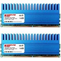 Komputerbay 4GB (2x 2GB) DDR2 DIMM (240 pin) 1066MHZ PC2-8500 KIT 4 GB con Crown Series dissipatori di calore per il raffreddamento supplementare CL 5-7-7-25