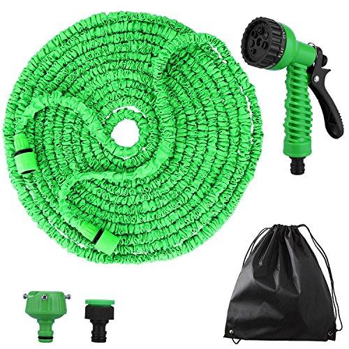 Flexibler Gartenschlauch,100 FT 30m FlexiSchlauch Wasserschlauch Schlauch Flexi Dehnbarer Wasserschlauch - Update Grün Gartenschlauch