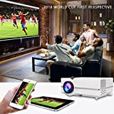 LED Video Projector Mini Portable HD 1080P 2400 Lumens Home Cinema Supports Full HD HDMI for PS4 Laptop ipad iPhone Smartphone Game TV Multimedia Home Theater Entertainment white (Upgrade 2018) WONNIE