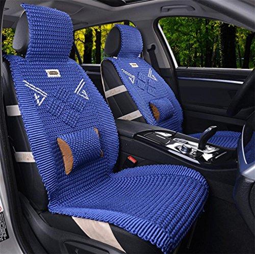 A Car mats DD Hand-Made EIS Seide Auto Kissen Vier Jahreszeiten Gemeinsamen Sommer Cool Pad, Blue,Blue