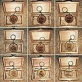 LLAVEROS PERSONALIZADOS en rodaja de MADERA RECUPERADA de OLIVO grabados con láser 4 cm aprox. con...