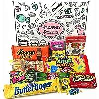 Boîte American Candy | Mini Coffret Cadeau Américain Bonbons, Chocolat, Jelly Belly Beans | Sélection de confiseries chocolats authentiques | Boîte de 13 pièces
