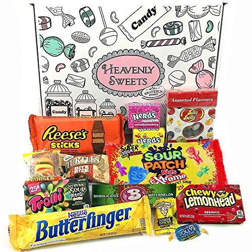 Mini caja de American Candy | Caja de caramelos y Chucherias Americanas | Surtido de 13 artículos incluido Reeses Jelly Belly Jolly Rancher | Golosinas para Navidad Reyes o para regalo