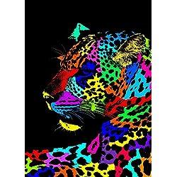 Artis 609180 Leopardo Pop Art-Cuadro Decorativo impresión Sobre Cristal, 45 x 30 x 1,2 cm