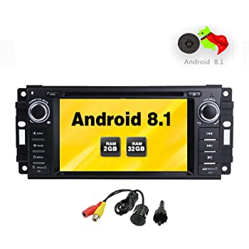 Freeauto Android 8.1 Car Stereo GPS Reproductor de DVD para Jeep Wrangler JK Head Unit Single DIN 6.2
