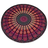 "Mandala redonda india Cuadro Tapiz de tela Hippie Beach Tire Diámetro Yoga Mat 80 """