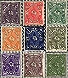 Deutsches Reich 224-232 (kompl.Ausg.) 1922 Posthorn (Briefmarken für Sammler)