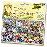 Folia 12419 - Set de cristales decorativos (más de 800 piezas, formas, tamaños y colores surtidos) [importado de Alemania]