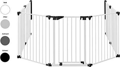 Original IMPAG Kaminschutzgitter | Absperrgitter| 190-430 cm| Automatik-Tür | 90° Feststell-Funktion | Einhandbedienung | Öffnet in beide Richtungen | Sicherheitsgeprüft 1930:2011