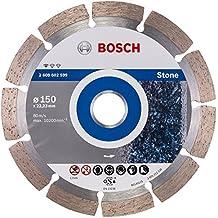 Bosch - Disco diamantato per il taglio di pietra, 150 mm, con alesatura di 22-23 cm