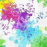 20 Stück Serviette Farben 33x33 cm Holi-Festival Geburtstag Indien