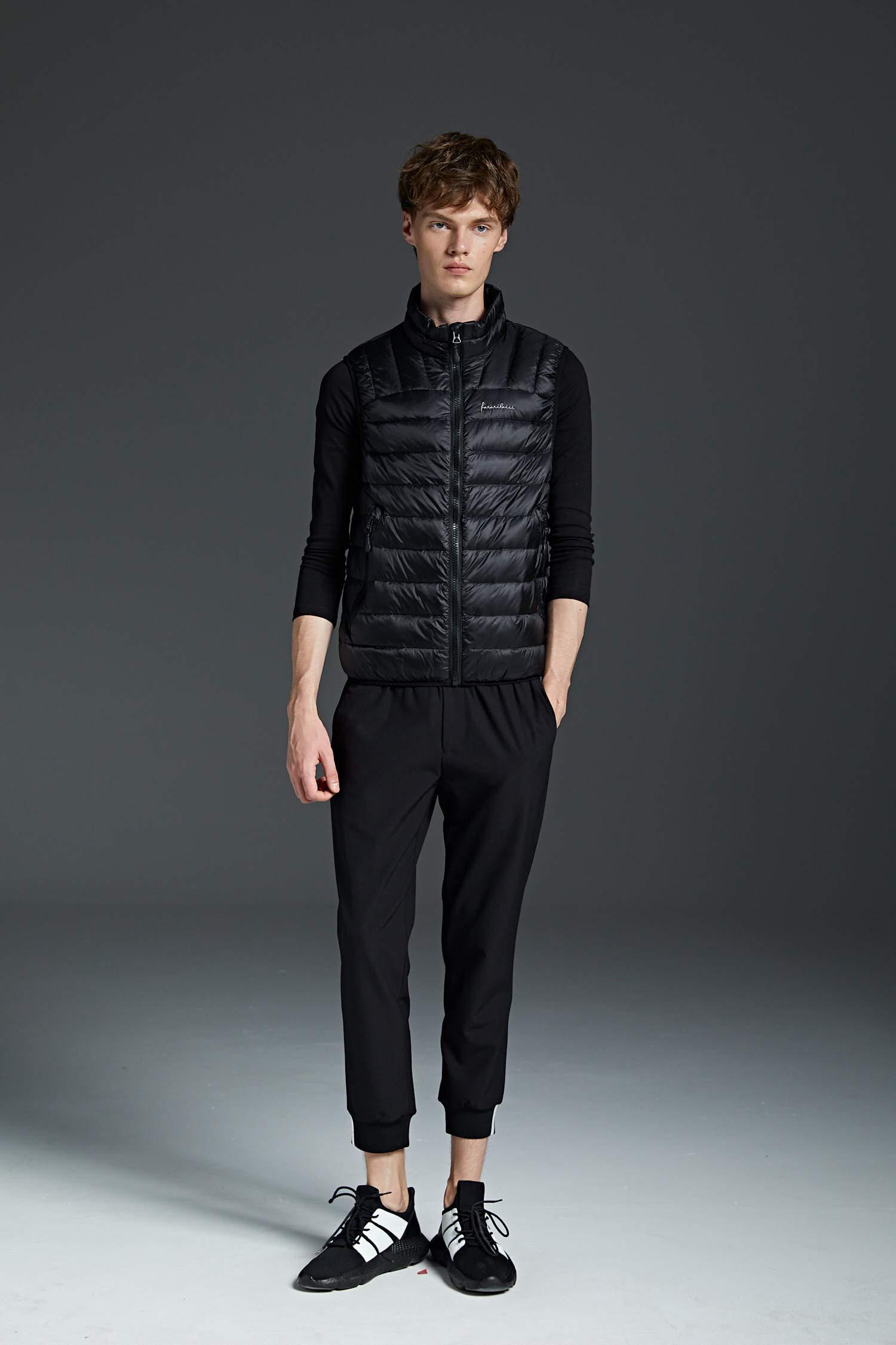 61XfrG wGGL - NBWS Men's Down Vest Quilted Gilet Mandarin Collar Vest Bodywarmer Sleeveless Slim-fit Outdoor Vests