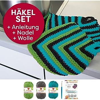 Topflappen Tonami einfach häkeln: myboshi Häkel-Set mit 3x 50g Wolle ...