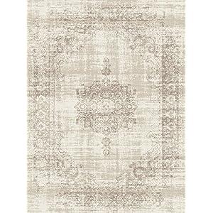 LIFA LIVING 133 x 200 cm Vintage Teppich für Wohnzimmer und Schlafzimmer, Wohnzimmerteppich mit Muster Orientalisch…