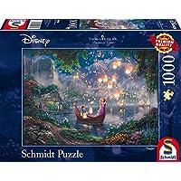 Schmidt Spiele Puzzle 59480 - Thomas Kinkade, Disney Rapunzel, 1.000 Teile Puzzle