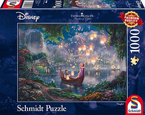 Schmidt Spiele Puzzle 59480–Puzzle Thomas Kinkade, 1000Piezas, Disney Rapunzel