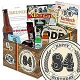 84. Geburtstagsgeschenk | Männer Geschenke | Geschenkideen | Geschenke 83 Geburtstag Mama | mit Pfeffi Likör, Kondomen, Bier und mehr | mit Pfeffi Likör, Kondomen, Bier und mehr