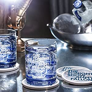 The Tonight Show Starring Jimmy Fallon Rocks Glass by NBCUniversal Store