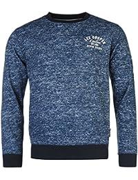 Lee Cooper Hommes Tex Aop Sweatshirt Sweater Top Haut Decontracte Col Rond