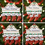 Personalised Family Christmas Xmas Tree Bauble Decoration Ornament | Mantel Family | Groups 2,3,4,5,6,7 & 8