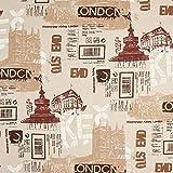 Fabulous Fabrics Dekostoff Halbpanama London - beige/braun