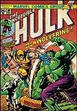 Póster de Lobezno de Marvel Comics contra Hulk. Vinilo adhesio de 24 x 87 cm