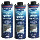 3x Presto Unterbodenschutz Bitumen schwarz 1 Liter Dosen = insgesamt