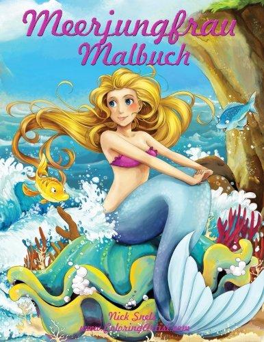 Meerjungfrau Malbuch: Volume 1