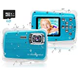 "PROACC Cámara Impermeable para niños, Digital Mini Cámara FHD1080P con Zoom Digital de 8X / 21MP / 2"" TFT LCD/32 GB Micro SD,"