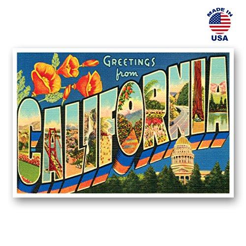 Kalifornien Post (Grüße aus Kalifornien Vintage Nachdruck-Postkarten-Set von 20identische Postkarten. Groß US State Name Post Card Pack (ca. 1930's-1940's). Hergestellt in den USA.)