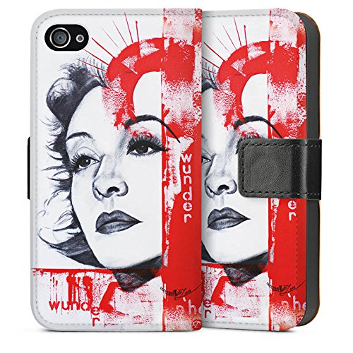 Apple iPhone 6 Housse Étui Silicone Coque Protection Zarah Leander Dessin Femme Sideflip Sac