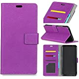 Wiko View 2 Pro Case,Wiko View 2 Pro Case,Design Premium PU Leather Wallet Snap Case Design Design Flip Case Compatible With Wiko View 2 Pro Purple