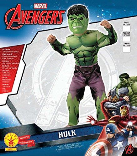 Image of Rubie's Official Child's Marvel Avengers Assemble Hulk Costume - Medium