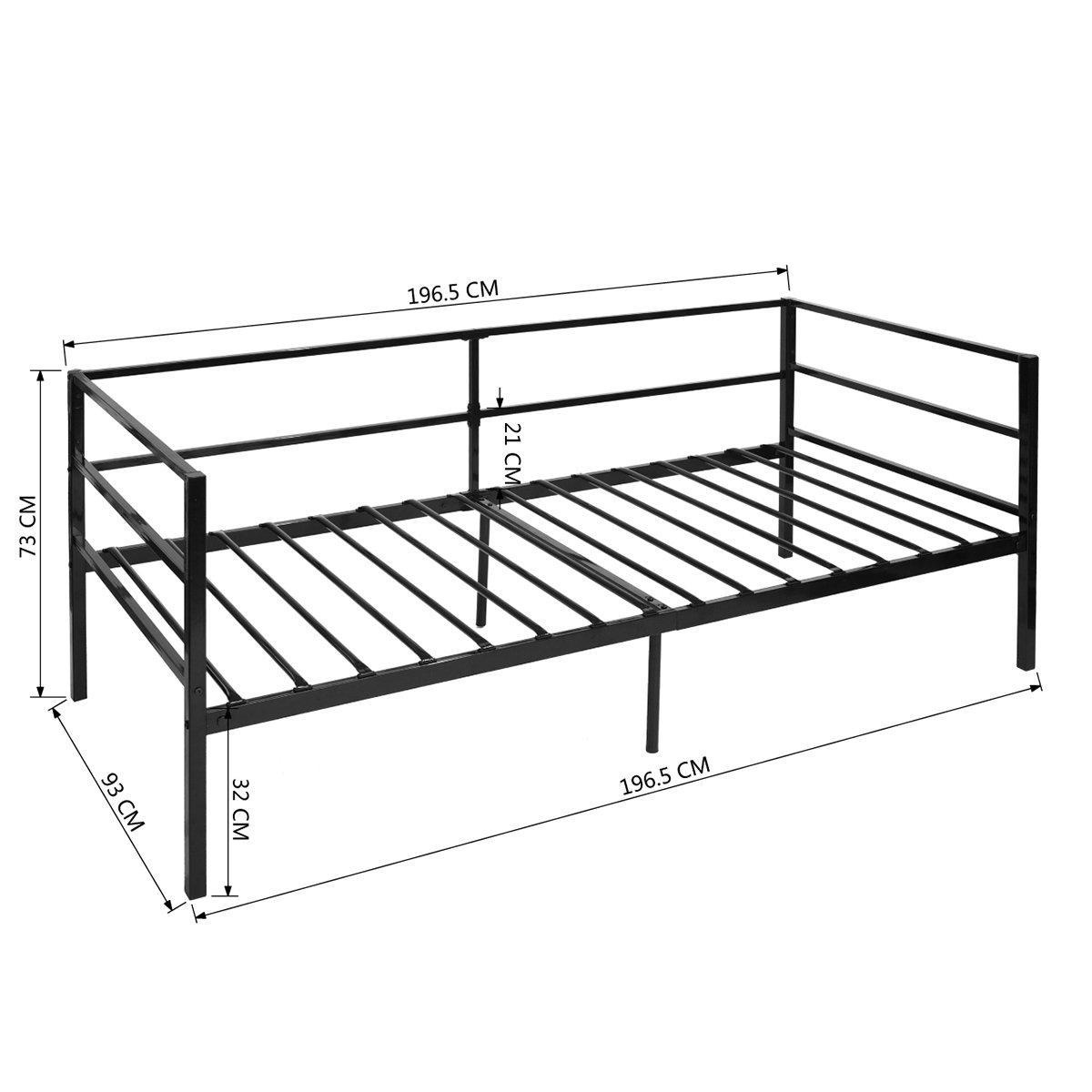 eggree metallbett hofmann bett schlafsofa bettgestell. Black Bedroom Furniture Sets. Home Design Ideas