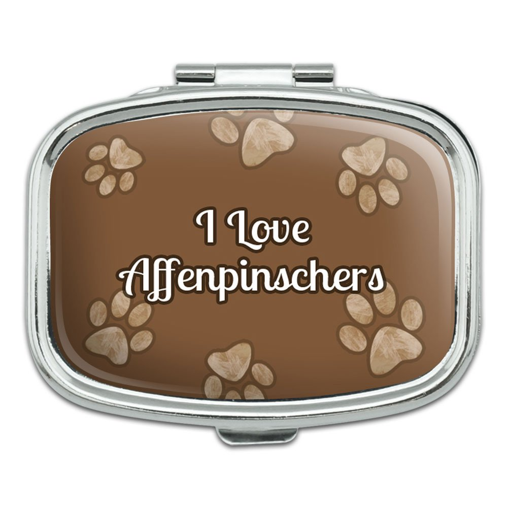 Rectangle Pill Case Trinket Gift Box I Love Heart Dogs A-C – Affenpinschers