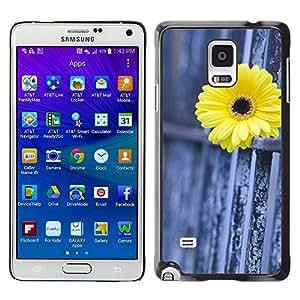 WonderWall Carta Da Parati Immagine Custodia Rigida Protezione Cover Case Per Samsung Galaxy Note 4 SM-N910F SM-N910K SM-N910C SM-N910W8 SM-N910U SM-N910 - recinzione margherita metafora significato profondo